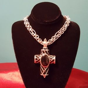 Jewelry - Sterling onyx cross